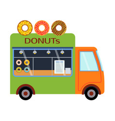 street food festival donuts trailer vector image