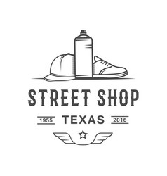 street shop logotype vector image