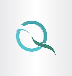 Stylized letter q business symbol vector