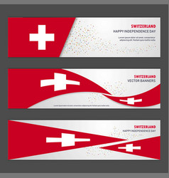 Switzerland independence day abstract background vector