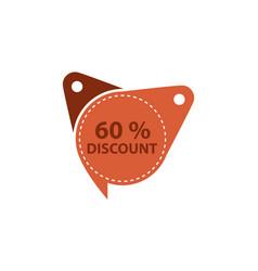 tag discount label 60 percent vector image