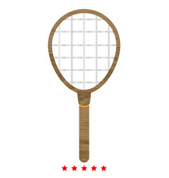 Tennis racquet icon different color vector