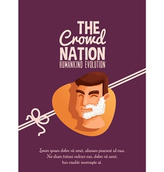 The crowd nation cartoon design vector
