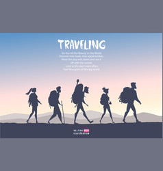 traveling cartoon people vector image