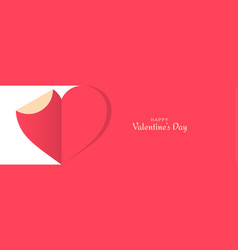 valentines day banner cut paper day vector image