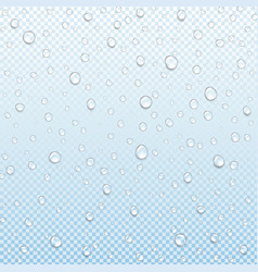 Water drop isolated transparent blue background vector