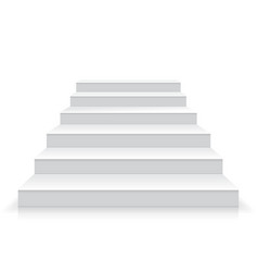 White stairs realistic vector