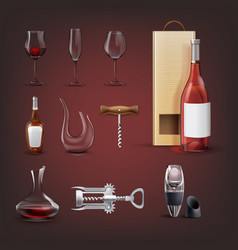 wine collection vector image