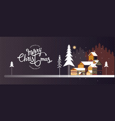 wishing you a very merry christmas and happy new vector image