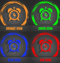 alarm clock icon Fashionable modern style In the vector image vector image