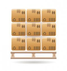 Boxes icon vector