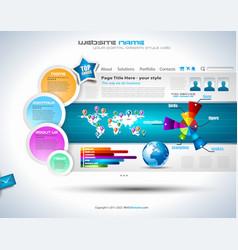 Complex Website Template vector image