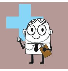 Doctor Doodle vector image