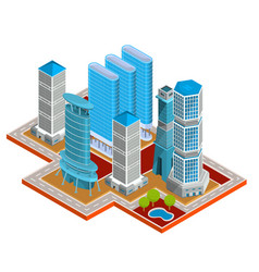 Isometric 3d of modern urban vector