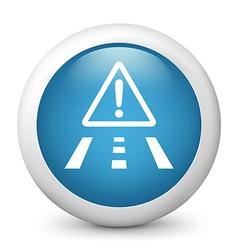 Road Hazard Glossy Icon vector image vector image