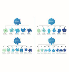 set of infographic templates for data vector image vector image