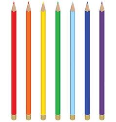 Seven color pencils vector image