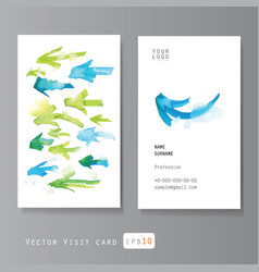 Watercolor arrows visit card vector image