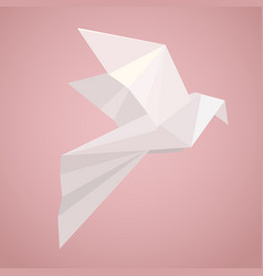 white origami pigeon paper zoo vector image vector image