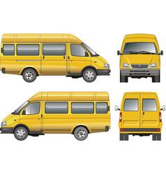 yellow mini bus vector image