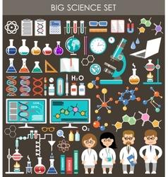 Big science set Infographics vector image vector image