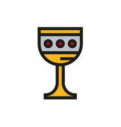 Grail holy icon on white background vector
