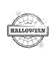 stamp with halloween text vector image vector image
