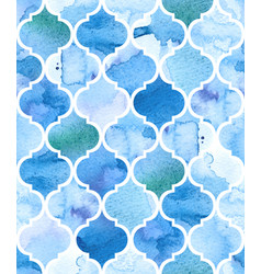 Watercolour moroccan background seamless vector