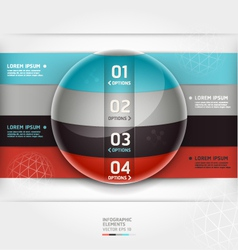 Abstract infographics element circle template vector image vector image