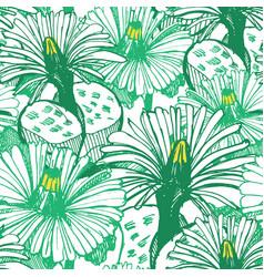 botanical green background vector image vector image