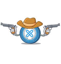 Cowboy gxshares coin character cartoon vector