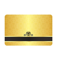Gold Card with Vintage Pattern vector image