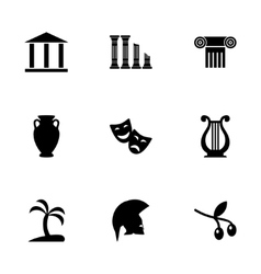 greece icon set vector image