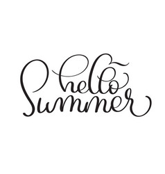 hello summer hand made vintage text on vector image vector image