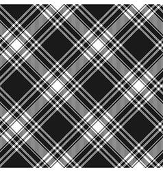Menzies tartan black kilt diagonal fabric texture vector