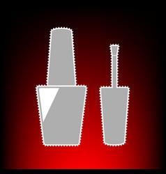 nail polish style vector image vector image