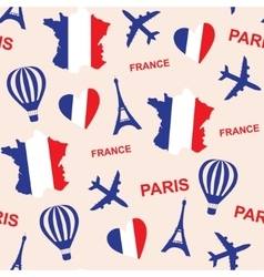 Seamless pattern background with France with map vector image vector image