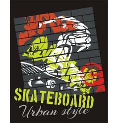 Skateboarding - urban style vector image