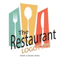 the restaurant fork spoon knife white background v vector image vector image