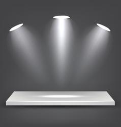 White Shelf vector image vector image
