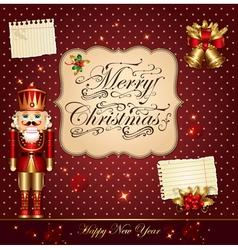 christmas with nutcracker vector image vector image