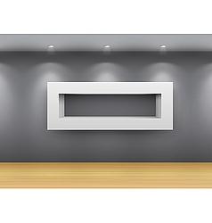 interior gallery shelf vector image