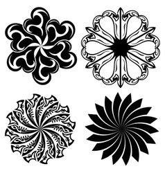 Set of round tattoo elements vector image