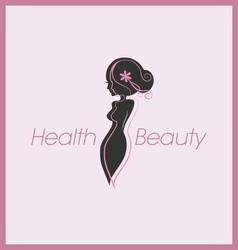 Silhouette woman body logo vector