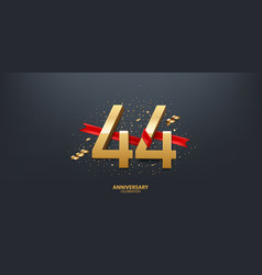 44th year anniversary background vector