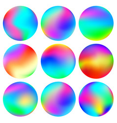 Abstract colorful spheres vector