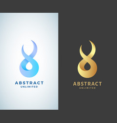 Abstract infinity sign emblem or logo vector