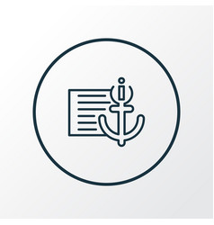 anchor text icon line symbol premium quality vector image