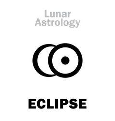 Astrology eclipse vector