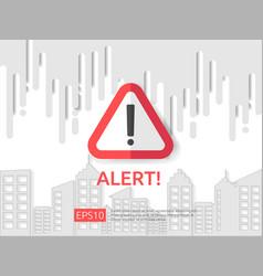 Attention exclamation warning alert mark symbol vector